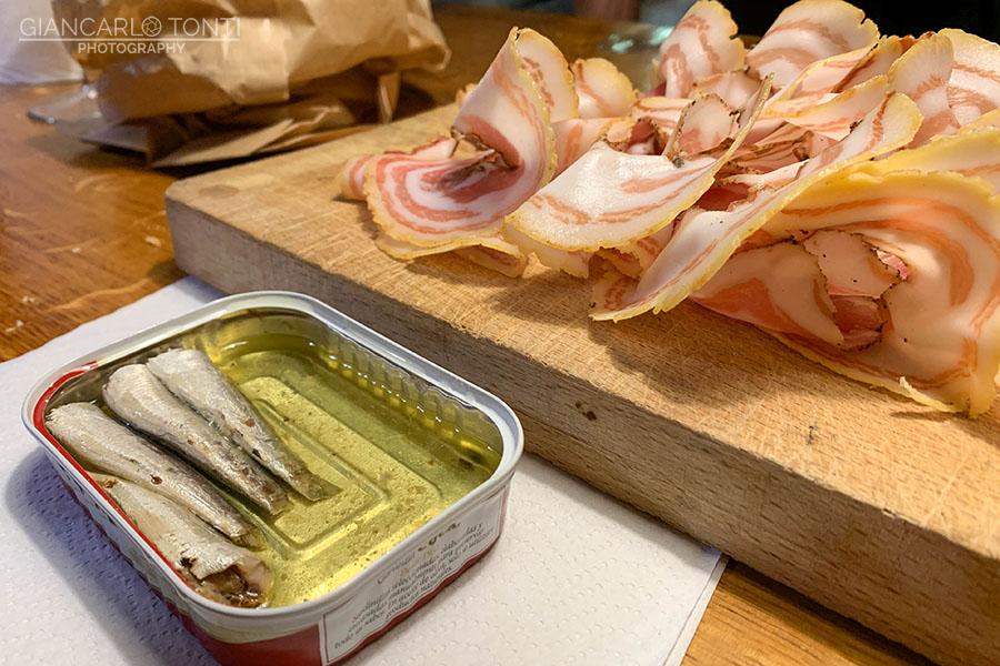 Sardine pancetta - Osteria della Vigna