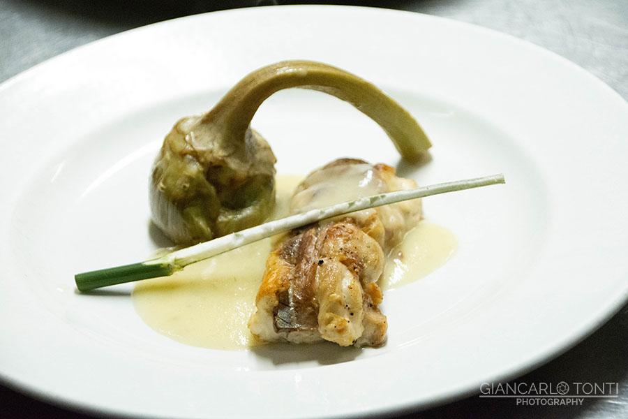 Palombo porchettato - Osteria della Vigna
