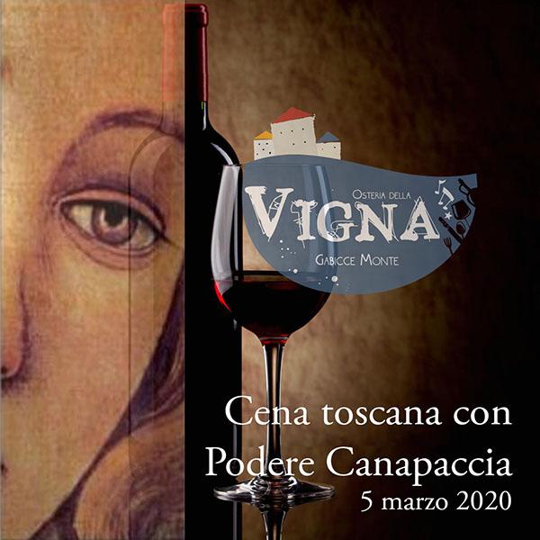 Cena toscana con Podere Canapaccia 05/03/20