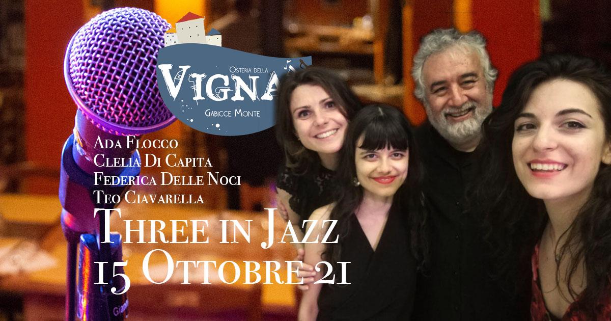 Three in Jazz - 15/10/2021